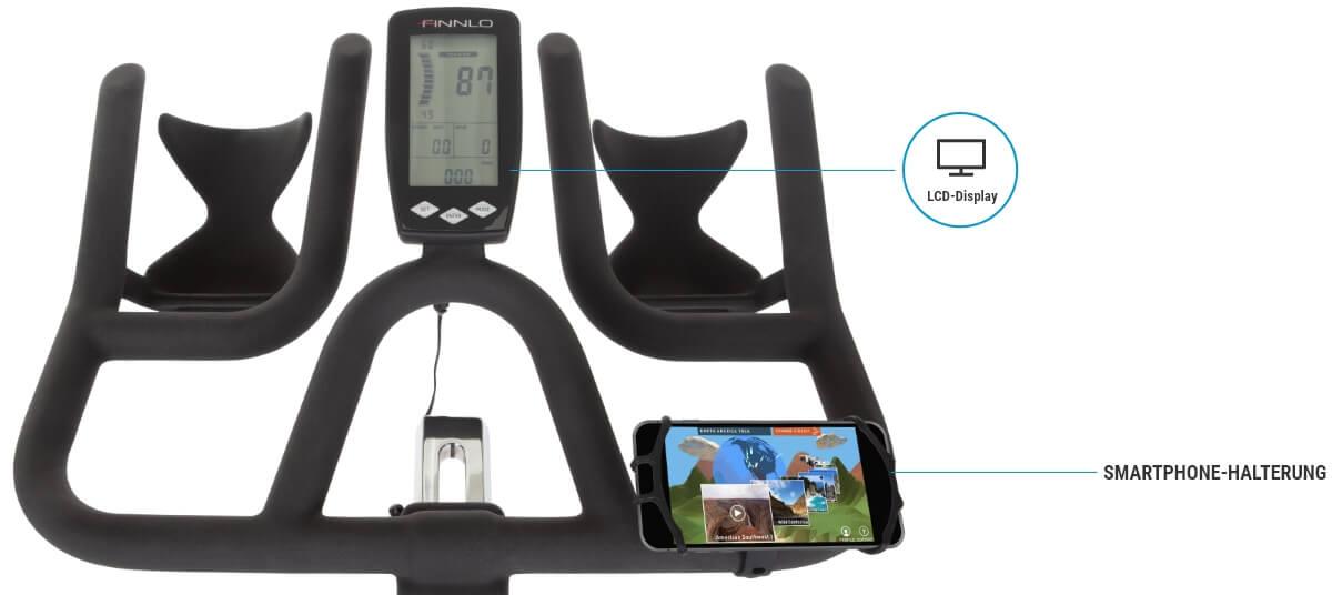 LCD Monitor mit Trainingsdaten und Apps