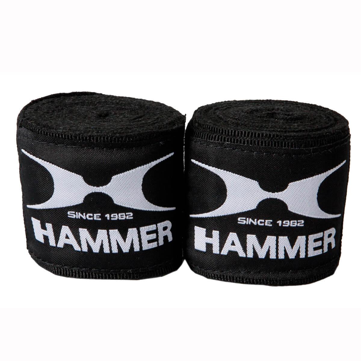Image of HAMMER BOXING Boxzubehör Boxbandagen, elastisch 2.5m - schwarz
