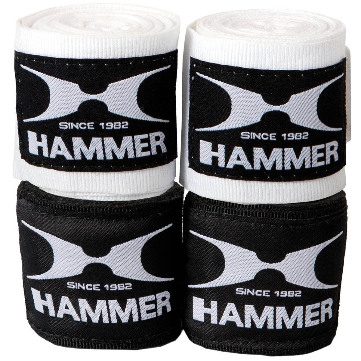 Image of HAMMER BOXING Boxzubehör Boxbandagen, elastisch, 4.5 m - schwarz