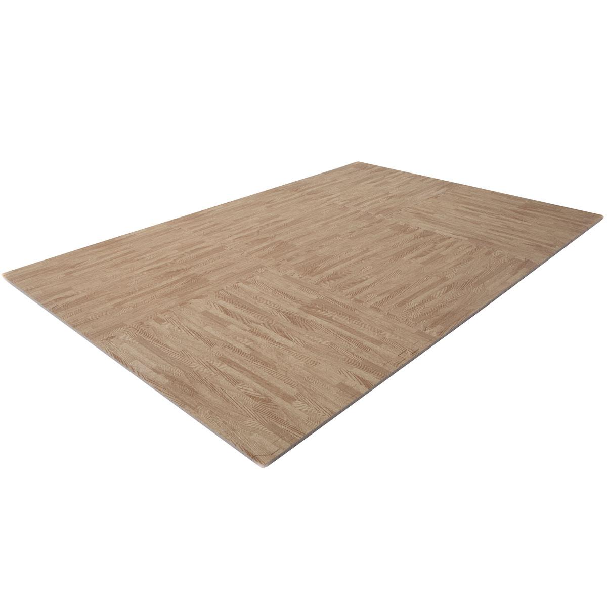 FINNLO  Zubehör Bodenschutzmatte Holzoptik (Puzzlematte)