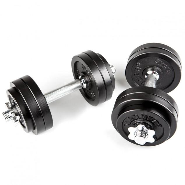 Hanteln und Gewichte Kurzhantel-Set 30 kg  Eisen von HAMMER