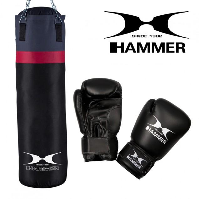 Box-Set Cobra Boxsack + Boxhandschuhe von HAMMER BOXING