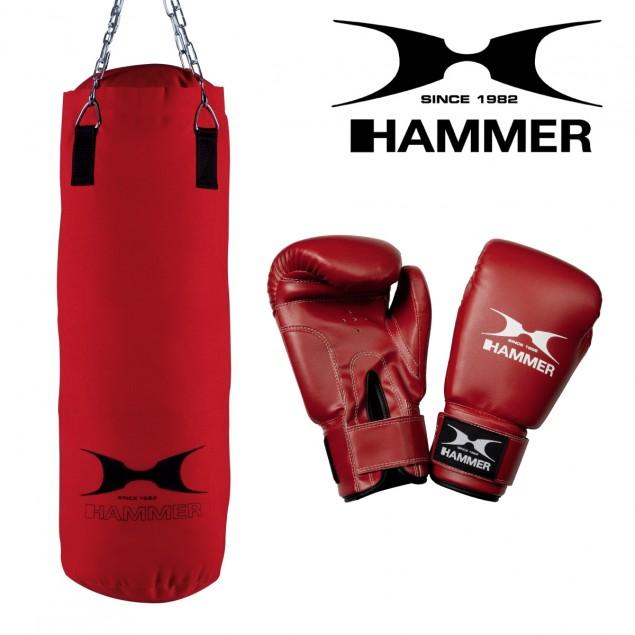 Box-Set Pro Boxsack + Boxhandschuhe von HAMMER BOXING