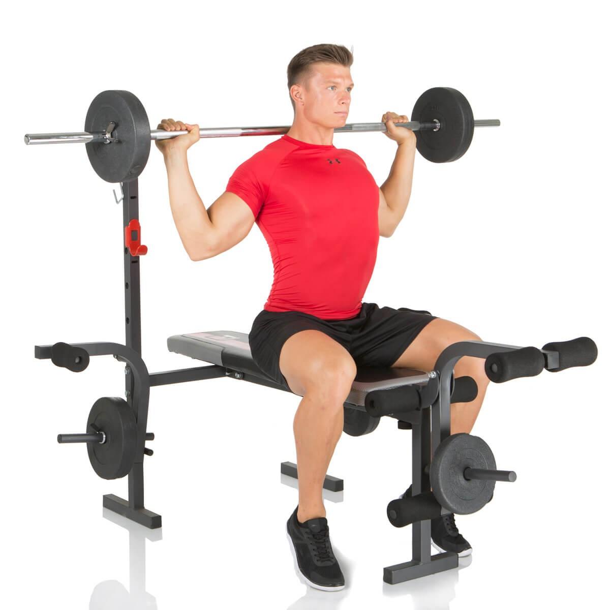 Buy Hammer Weight Bench Bermuda Incl 25 Kg Weights