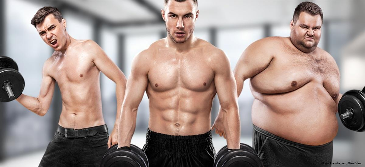 trainierter körper mann