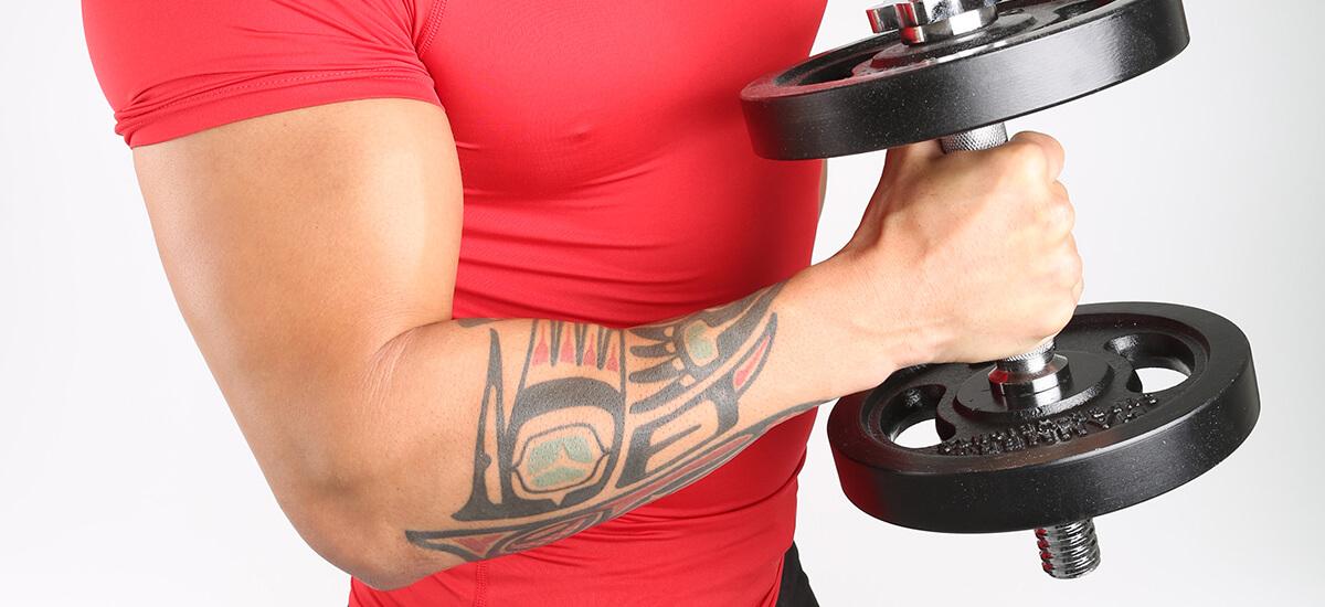Fitnesswissen Körperkunst Können Muskeln Tattoos Verzerren